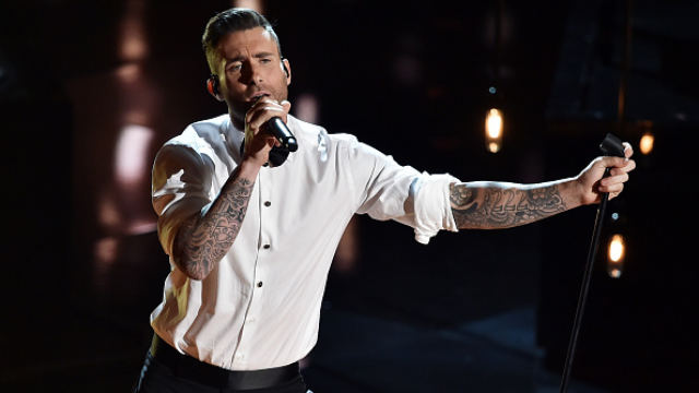 Adam Levine has a new giant back tattoo, new excuse for posting a shirtless photo.