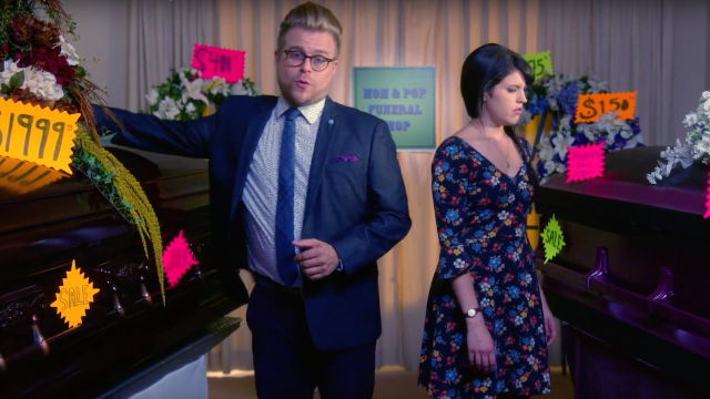 Sorry, everyone: funerals are kind of a scam, comedian Adam Conover explains.