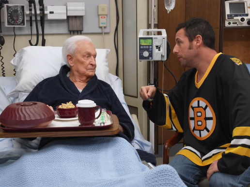 Adam Sandler and Bob Barker reunite to beat the crap out of each other one last time.