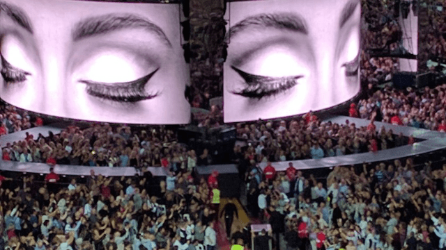 Adele has the most absurd way of secretly getting transported to the stage at concerts.