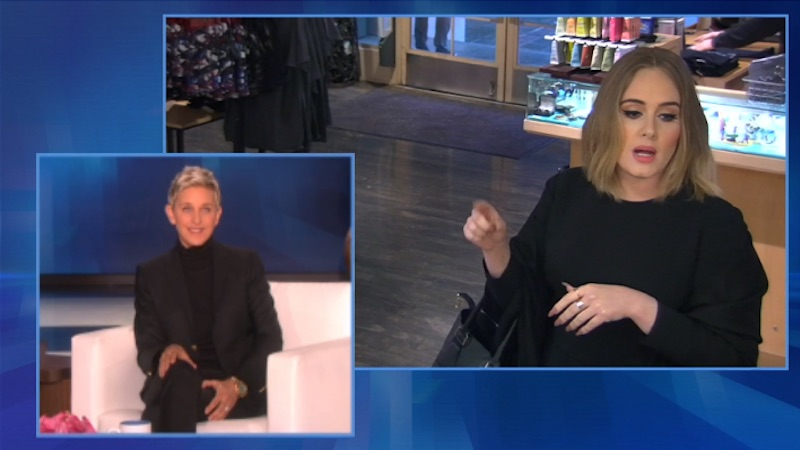 Hilariously demanding Adele pranks Jamba Juice employees with the help of Ellen.