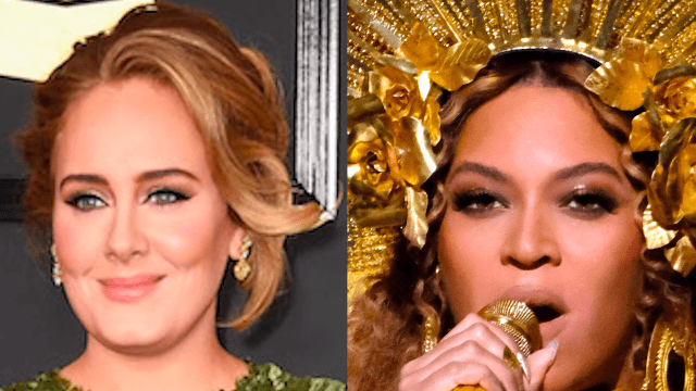 Adele broke her Grammy in half to share with Beyoncé.