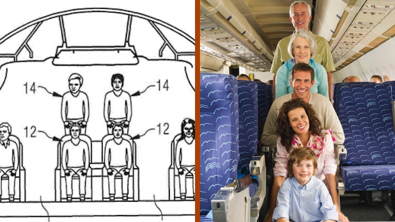 Airbus designs stacked seating arrangement just to prove they can cram more of us in there.