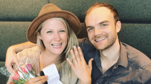 This man proposed at the most romantic place on Earth, an airport Starbucks.