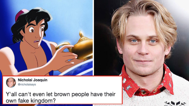 'Aladdin' fans are furious over the brand new white character being added for no reason.