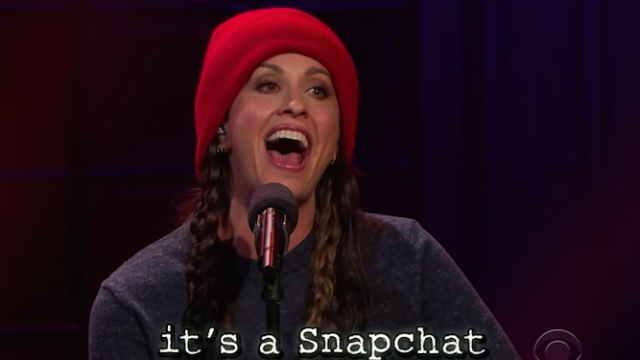 Alanis Morissette has updated her hit 'Ironic' for this horrible modern age.