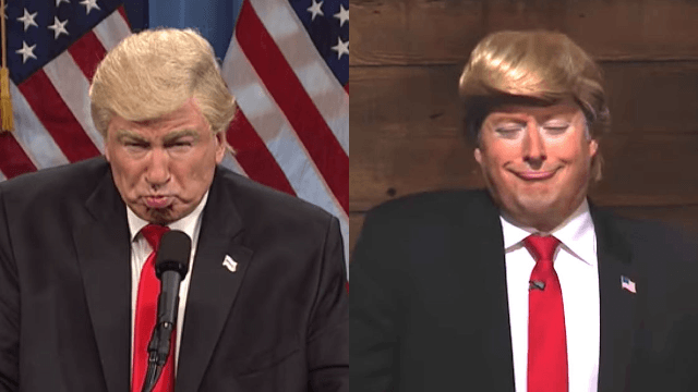 Alec Baldwin gets into bitter Twitter war with another comedian who does a Trump impression.