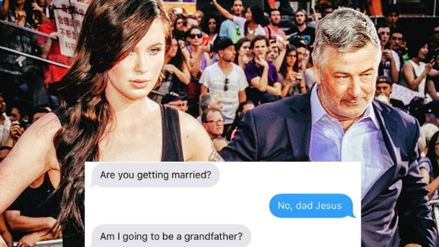 Turns out Alec Baldwin is a goofy dad who texts his daughter embarrassing stuff, too.