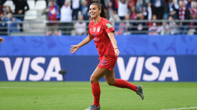 Soccer star Alex Morgan trolled England by sipping tea after scoring. It's a jolly good meme.