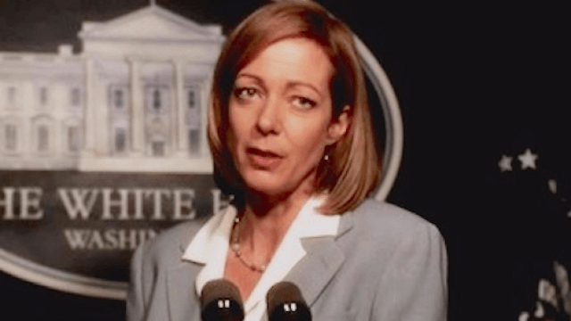 Allison Janney brought C.J. Cregg back to the White House briefing room one last time for a good cause.