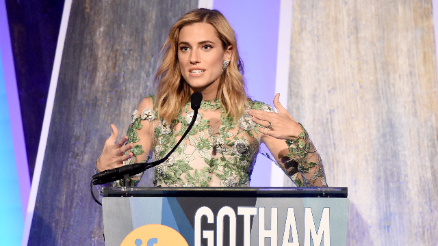 Allison Williams is already done with blonde and onto the next hair color.
