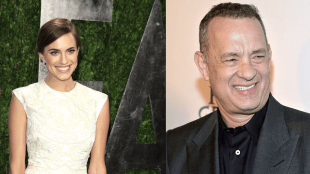 Tom Hanks 'guest starred' as the officiant in Allison Williams' wedding.