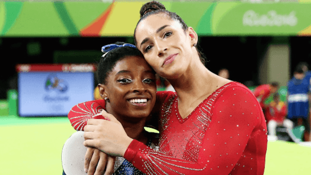 Aly Raisman exposes 'grandma' Simone Biles as an adorable plane-sleeper.