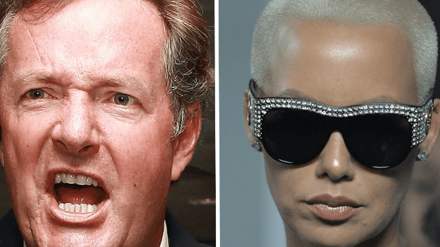 Piers Morgan slut-shames Amber Rose on Twitter. Amber Rose responds with glorious clap-back.