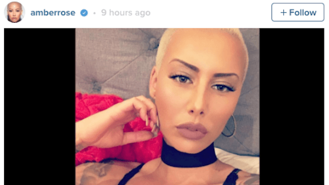 Amber Rose can't stay off social media because of her very hot boyfriend.