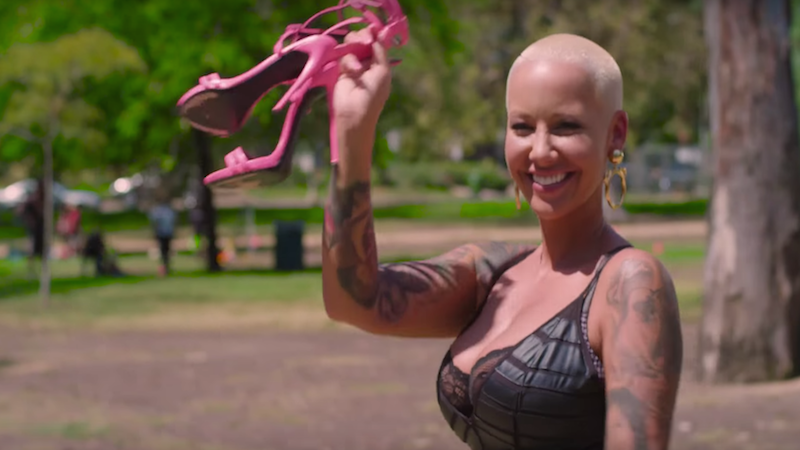 Watch Amber Rose turn the Walk of Shame into a Stride of Pride.
