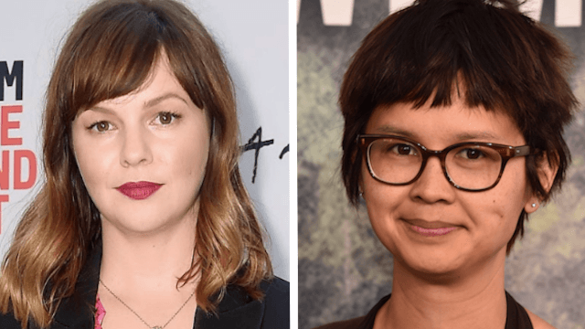 Amber Tamblyn reaches out to the actress who accused her husband David Cross of racism.