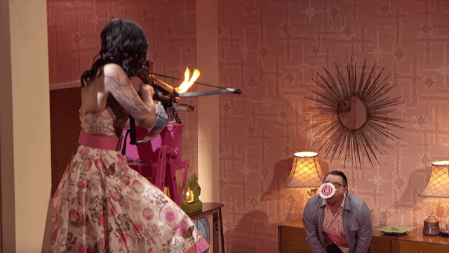 This dude accidentally got shot with a flaming arrow on 'America's Got Talent.' Live.
