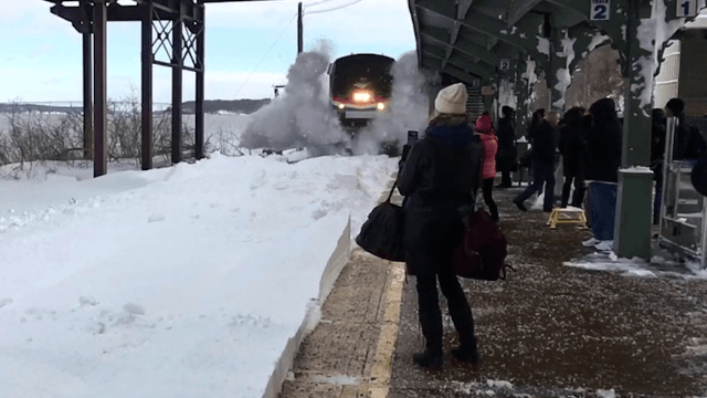 This is why you stand back from a train speeding through the snow.
