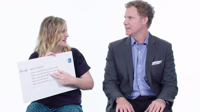 Amy Poehler and Will Ferrell answer the most-Googled questions about themselves.