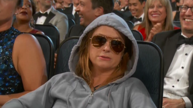 Amy Poehler did a hilarious audience bit right before getting snubbed for best comedy actress.