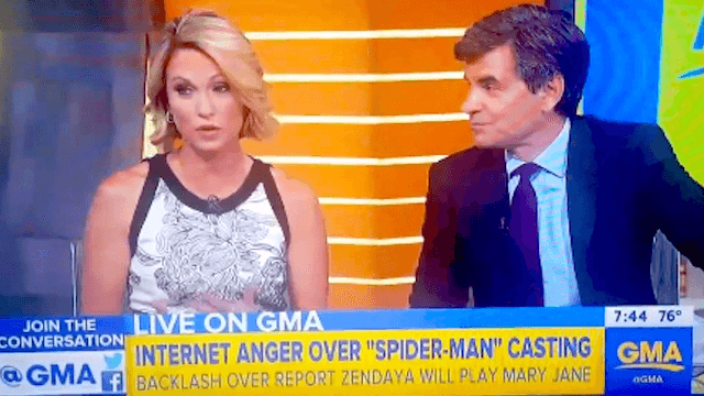 'GMA' anchor urgently crams foot in mouth after saying 'colored people' on air.