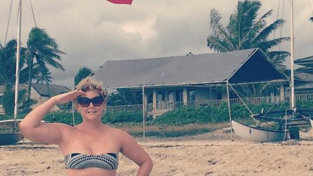'American treasure' Amy Schumer shows off her bikini body, patriotism.