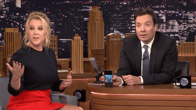 Amy Schumer and Jimmy Fallon looked through each other's phones. They found pig butts.