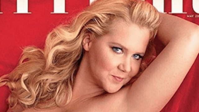 Amy Schumer shares the cover of 'Vanity Fair' with a crushing quote from Donald Trump.