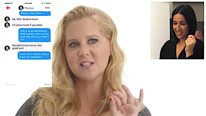 Amy Schumer took over a 'Vanity Fair' staffer's Tinder and it quickly got weird.