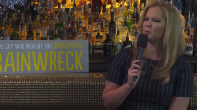 """Amy Schumer takes down interviewer after he calls her """"Trainwreck"""" character """"skanky."""""""