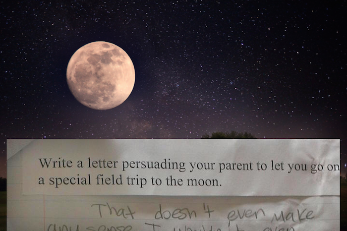 An 11-year-old kid had a hilariously smartass response to a school assignment about visiting the moon.