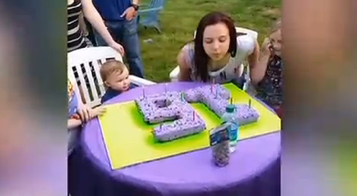 An entire airplane sh*t on this girl's sweet 16.