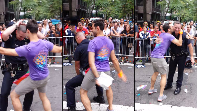 An NYPD officer started dancing during the NYC Pride Parade, and it's just wonderful.