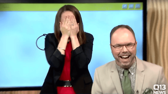 Anchor accidentally draws penis on live TV and can't hide it. Everyone goes nuts.