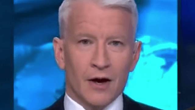 Anderson Cooper's speechless reaction to Trump's North Korea quote is hilariously terrifying.