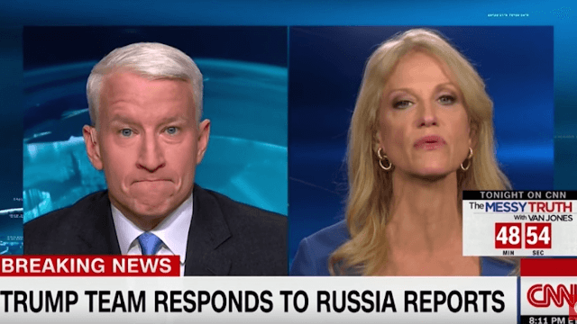 Anderson Cooper and Trump advisor Kellyanne Conway have heated exchange over what a hyperlink is.