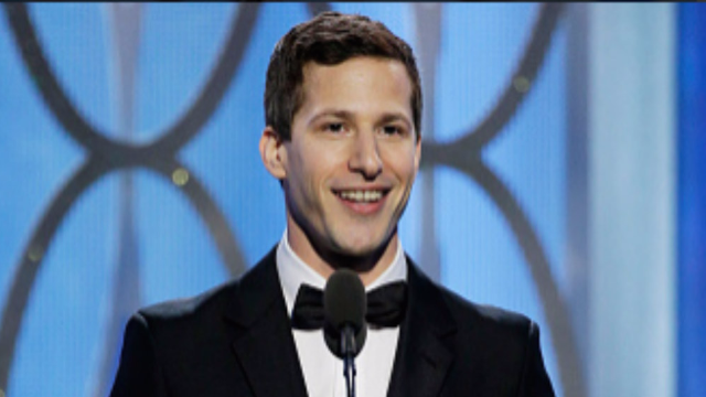 Andy Samberg took his Golden Globe stage time to audition for next year's host.