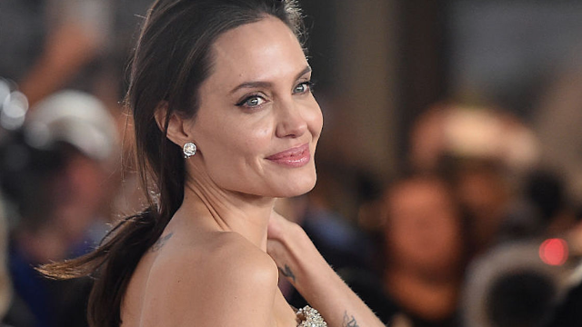 Angelina Jolie opens up about divorce, Bell's palsy, and picking up dog poop in new interview.