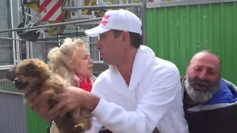 We don't know how to feel about this animal rights group stealing a homeless man's puppy.