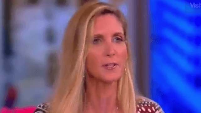 Ann Coulter was booed on 'The View' for a particularly ironic claim about Donald Trump.