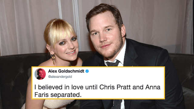 Chris Pratt and Anna Faris are separating and the internet is in mourning.
