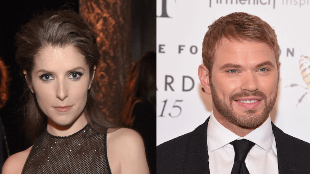Anna Kendrick went looking for a 'strapping' man on Twitter. 'Twilight's Kellan Lutz wanted to be that guy.