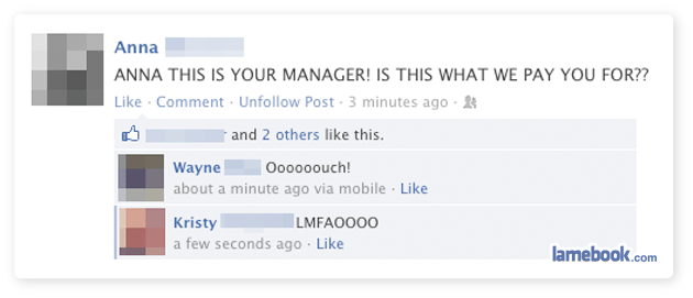 13 really dumb people who got busted by their bosses on Facebook.