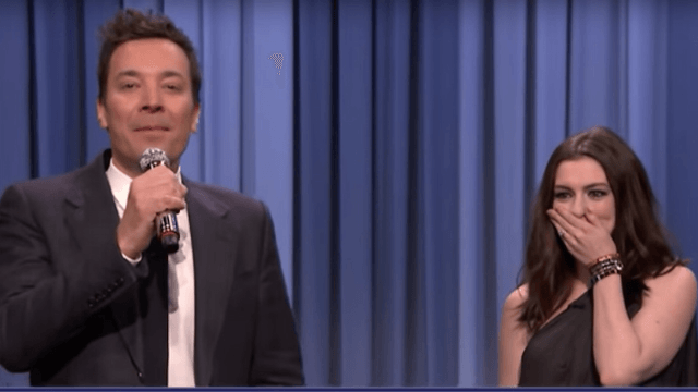 Anne Hathaway and Jimmy Fallon sing songs that have been butchered by Google Translate.