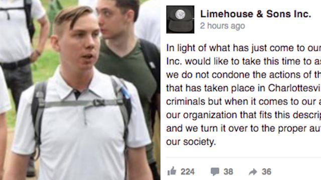Another Nazi protester has been named, shamed and fired. Good work, internet.