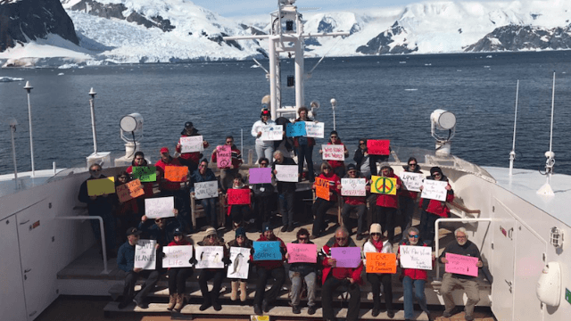 Trump is so unpopular that even Antarctica turned out to protest his presidency.