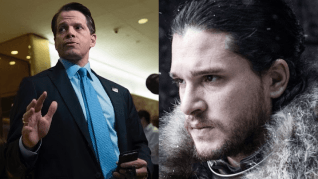 It sure looks like Anthony Scaramucci used 'Game of Thrones' to subtweet Trump.