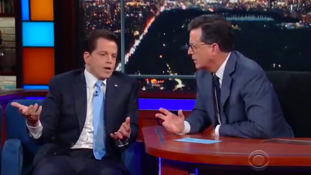 Anthony Scaramucci went on 'Colbert' and compared himself to Arya Stark.