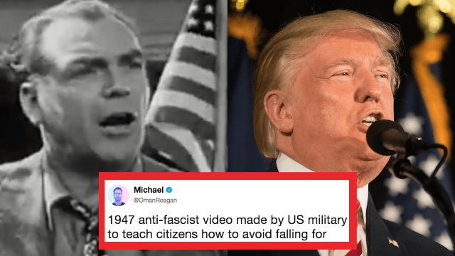 This anti-Nazi warning video from 1947 is going viral because it looks eerily familiar.